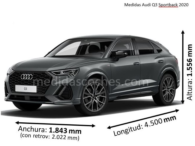 Medidas Audi Q3 Sportback 2020