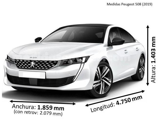Medidas Peugeot 508 2019